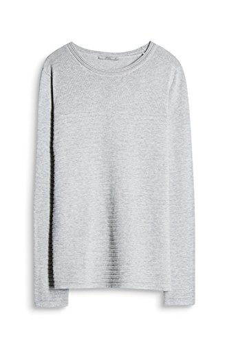 edc by ESPRIT Damen Pullover Grau (Medium Grey 035)