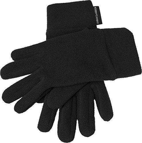 Urban Classics Unisex Handschuhe Polar Fleece Gloves, Schwarz (# 7), Large (Herstellergröße: L/XL)