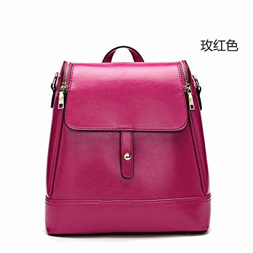 Mefly Nuova Lady Borsa Stile Coreano Borsa A Tracolla Ladies Viaggi Moda Rétro Rose Red Rose red