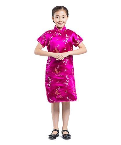 Kinder Chinesische Kostüme (AKAAYUKO Kinder Mädchen Cheongsam Pflaume Blume Bambus Chinesisches Qipao)