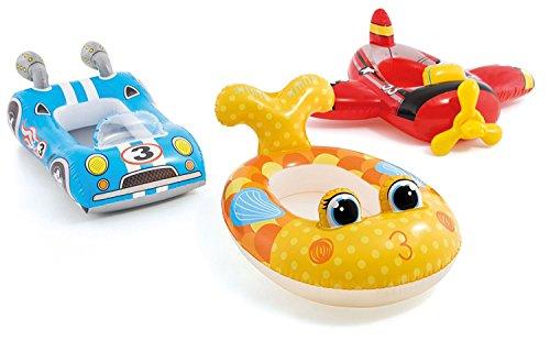 Intex Boot für Kinder Schlauchboot oder Planschbecken in 3 Designs (Gelb / Fisch Lady) -