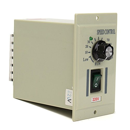 Motor Speed Controller AC 220V 50Hz Drehknopf Motor Speed Variable Control Controller für DC 0-500W Motor, grau - Motor Speed Controller
