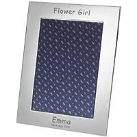 Fiore ragazza argento placcato cornice per foto 5x 7, regalo personalizzato, regalo di nozze, regalo speciale, personali - Ragazze Personalizzato Photo