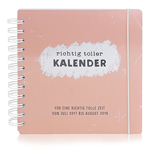"""Schülerkalender 2017/2018 """"Richtig toller Kalender"""" – Schulplaner für Hausaufgaben, Stundenpläne und mehr mit Wochenübersicht – 16,5 x 16,5 cm, 180 Seiten"""