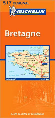 Michelin France, Bretagne (Brittany) Map No. 517
