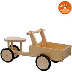 rosilino Ride-On coche Rickshaw haya natural/buena madera bebé Walker de 18meses