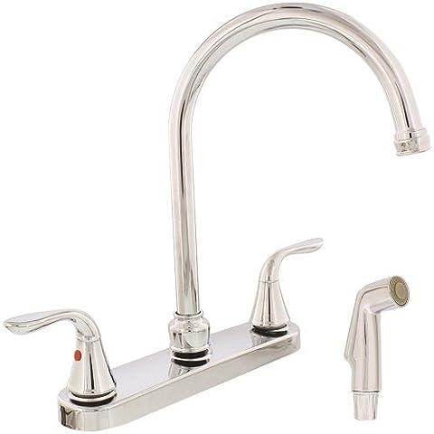 Aqua plomb 1558030cupc ab19538Mélangeur Chrome poli Bec col de cygne robinet de cuisine avec vaporisateur assortis