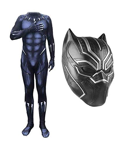 NANLAI Cosplay Kostüm Black Panther Superheld Outfit