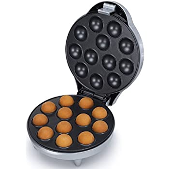 Appareil à Cake Pops Corps argenté - Réalisez 12 biscuits par cuisson