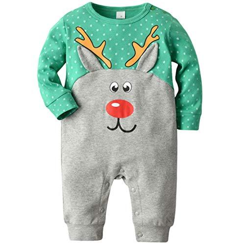 Gaga city Baby Weihnachten Kostüm Weihnachtskleidung Neugeborene Strampler Unisex Overall Baumwolle Jumpsuits