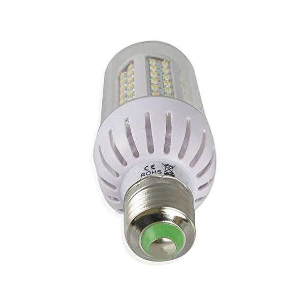 RoadRoma 4 x E27 6W 108 SMD3528 Bulbos de maíz Blanco cálido/Blanco día (Blanco) 2