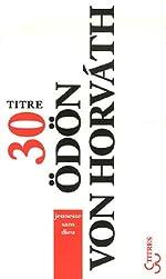 Jeunesse sans dieu de Odon von Horvath