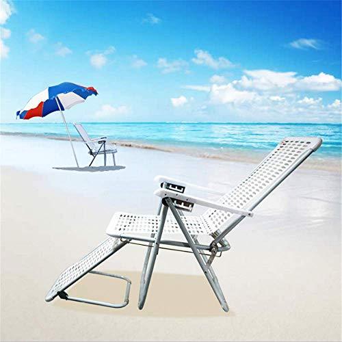 ZMXZMQ Klappstuhl Plus Fußstützenbefestigung, Verstellbare Schwerelosigkeitslehnen, Outdoor-Camping/Strand-Hocker -