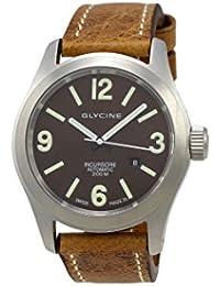Glycine Incursore – Reloj para hombre correa de piel color marrón automático suizo 3874.17 lb7bh