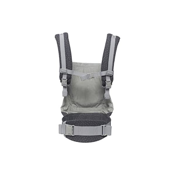 "Ergobaby Baby Carrier Toddler Front Back Original Starry Sky, 100% Cotton Ergonomic 3-Position Child Carrier Backpack Ergobaby Ergonomic Baby Carrier - Ergonomic for baby with wide deep seat for a spread-squat, natural ""M"" seated position. Baby carrying system with 3 carry positions:  front-inward, hip and back. From baby to toddler: 5.5*-15 kg (* from 3.2-5.5 kg / 7-12 lbs with Infant Insert, sold separately). Wearing comfort - All-day comfort with extra-padded shoulder straps (1 inch high density foam) and padded waistbelt  (1/4 inch) 7"