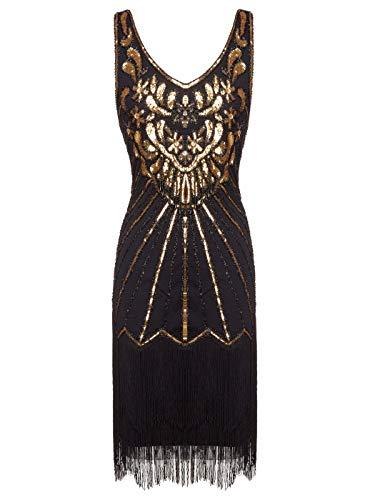 FAIRY COUPLE 1920er Gatsby Kurz Pailletten Flapper Kleid -