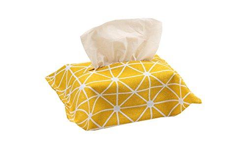 Leisial tessuti box lovely tessuto decorazione di porta tovaglioli di carta del bagno di carta di pompaggio kleenex dispenser per casa scuola ufficio auto viaggio, lino, design 4, 24.5x17.5cm