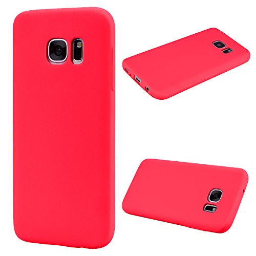 Forhouse Hülle Samsung Galaxy S7 Edge Anti-Scratch, Slim Back Cover Personality Design Clear TPU Hülle Back Cover for Samsung Galaxy S7 Edge - Red