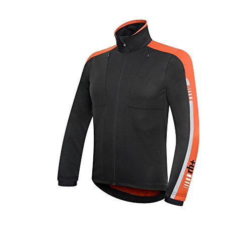 ZERO RH+ BREEZE JERSEY NOIR ET ORANGE Maillot coupe vent Breeze Coupe