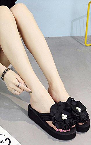 pengweiSandali di estate delle signore che ispessiscono le suole piedino dei piedini freddi dei pattini I pattini delle scarpe da spiaggia dei fiori 3