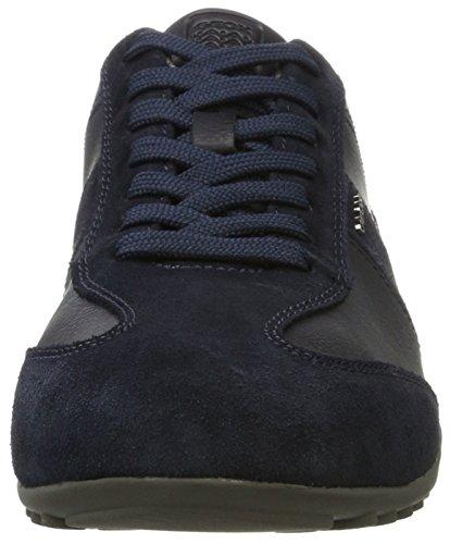 Geox U Wells A, Sneakers Basses Homme Bleu (Navy)