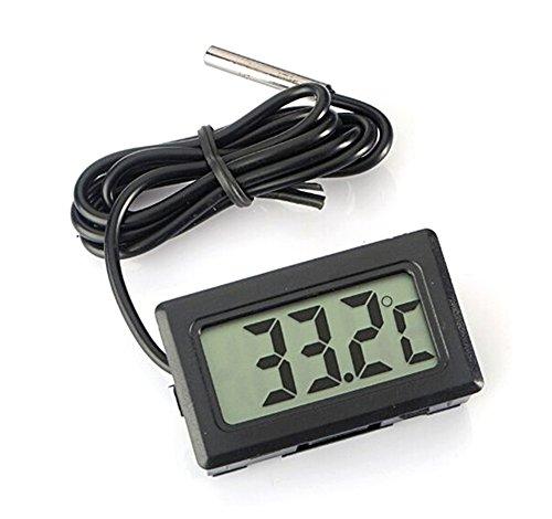 Demarkt Digital LCD Thermometer Temperatur Tester für Fisch Aquarium Kühlschrank in Schwarz