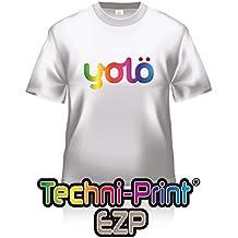 10 x A4 hojas de papel Techni-Print® EZP para transferencia de calor láser/ Estampado de camisetas.