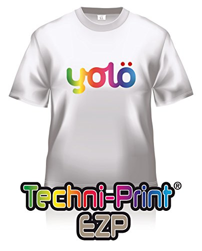 10 x A4 Sheets of Techni-Print® EZP Laser Heat Transfer Paper / T-Shirt Transfers