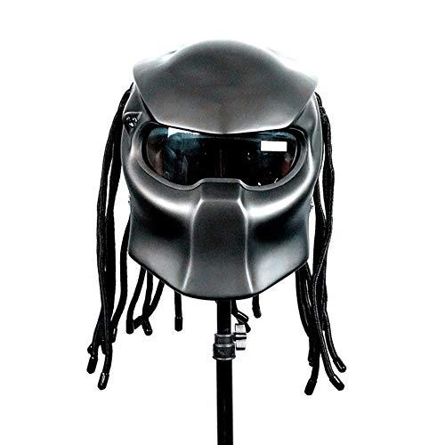 RLJJCS Modischer Und Langlebiger, Praktischer Vollverkleidungshelm Aus Eisen Für Warrior-Motorräder Helm