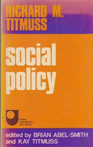 Social Policy: An Introduction by Richard M. Titmuss (1974-12-05)