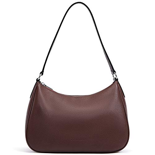 BOSTANTEN Damen Leder Schultertasche Handtaschen Umhängetasche Designer Hobo Taschen Kaffee