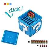 Aolvo - Porta carte da gioco per Nintendo Switch, 12-in-1, graziosa scatola di carte da gioco compatta per contenere fino a 8 carte da gioco NS e 4 schede Micro-SD, blu