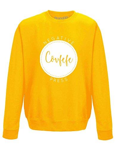 Covfefe, Erwachsene Gedrucktes Sweatshirt - Gold/Weiß S = 92cm