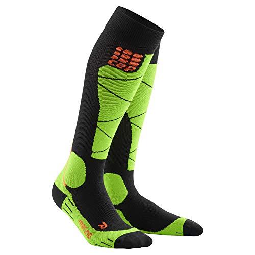 CEP - SKI Merino Socks | Skisocken in schwarz/grün | Größe IV für Herren