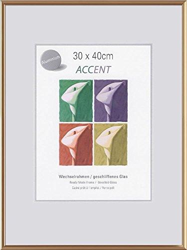 Nielsen Diseño 859978Pared Marco Accent 24x 30cm, Aluminio, Oro