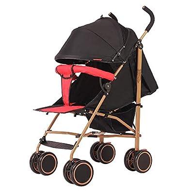 Strollers NAUY @ Cochecito de bebé, Carretilla Ligera Plegable Puede Sentarse y acostarse Carro de bebé Portátil Amortiguador Infantil Cochecito Infantil Sillas de Paseo