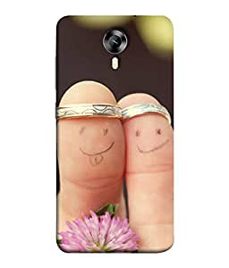 Fuson Designer Back Case Cover for Micromax Canvas Xpress 2 E313 (Rings Flowers In Love Engaged )