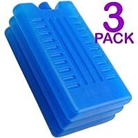 Ghiaccio sintetico per borse-frigo, confezione da 3 o 6 pezzi, per tenere al fresco alimenti o bevande, , Pack of 3