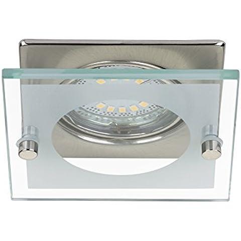 Briloner Leuchten LED iluminación empotrada-Set 7202-032, 3-lámpara de techo, Matt-níquel, 4 Watt [eficiencia energética de clase A