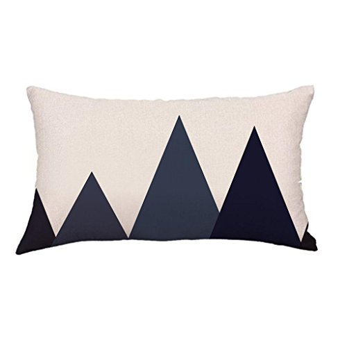 ow Case Sofa Home Decor Hirolan Geometry Painting Linen Cushion Cover (B, 30cmx50cm) (Einfach Dark Halloween Make-up)