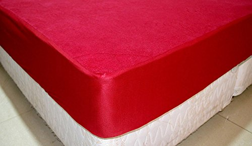 Trance Home Linen Waterproof & Dustproof Mattress Protector King Size (78x72(Maroon))