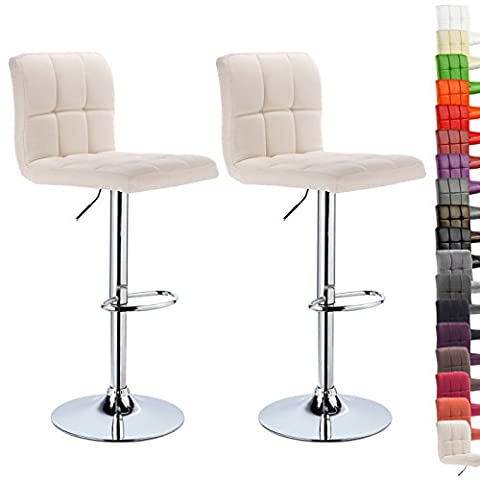 WOLTU 2x Bar Stools with Linen Fabric Seat Kitchen Counter