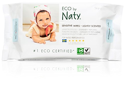 NATY BY NATURE BABYCARE ECO LIGHTLY SCENTED WIPES   12 X PACKS OF 56 (672 WIPES) BY NATURE BABYCARE