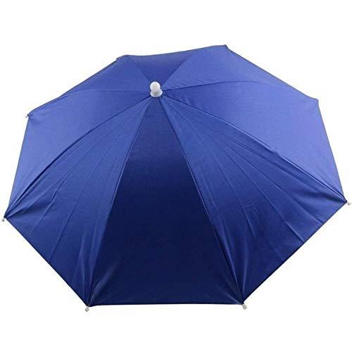 HATCHMATIC Faltbare Regenschirm-Hut-Fischen kampierende Strand Kopfbedeckung Sun Cap Kopf Hte Außen Ort Angeln Zubehr Werkzeuggert: Blau, One Size