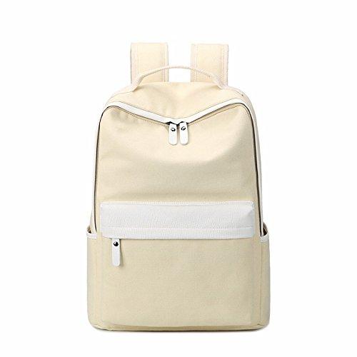 der junior high school schoolbag, weibliche campus leinwand rucksack,pink weiße