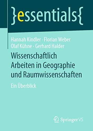 Wissenschaftlich Arbeiten in Geographie und Raumwissenschaften ...