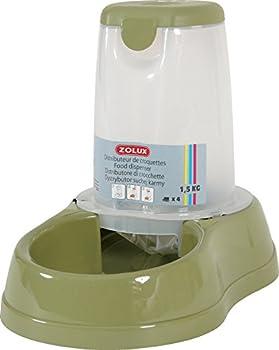 Distributeur de croquettes antidérapant vert 3,5 kg pour chien et chat/ZOLUX