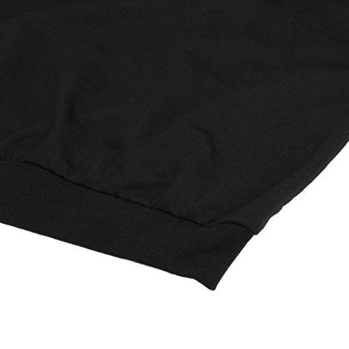 Vovotrade Donne Autunno e Inverno Maglie manica lunga con cappuccio scamosciata in cotone Nero