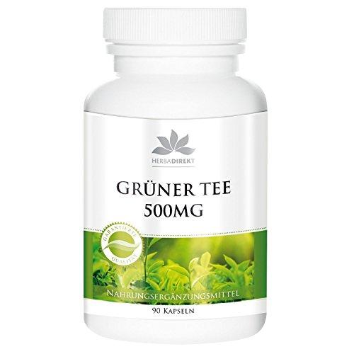 Estratto di tè verde forte 500mg (Camilla sinensis) - 90 capsule - Senza antiagglomeranti - 50% polifenoli - Vegan