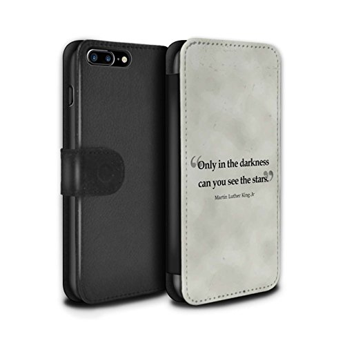 STUFF4 PU-Leder Hülle/Case/Tasche/Cover für Apple iPhone 7 Plus / William Shakespeare Muster / Berühmte Zitate Kollektion Martin Luther King